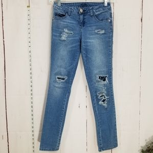 JUSTICE simply low super skinny distressed jeans
